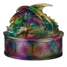 Metallic Dragon Trinket Box